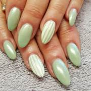 striped nail art design ideas