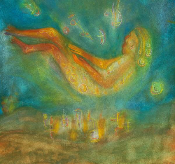 Mermaid Underwater Water Painting