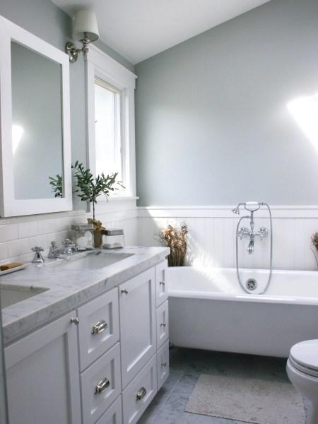 white wainscoting bathroom vanity 22 Stylish Grey Bathroom Designs, Decorating Ideas | Design Trends - Premium PSD, Vector Downloads