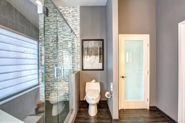 Stylish Grey Bathroom Design Decorating Ideas Trends - Premium Psd Vector