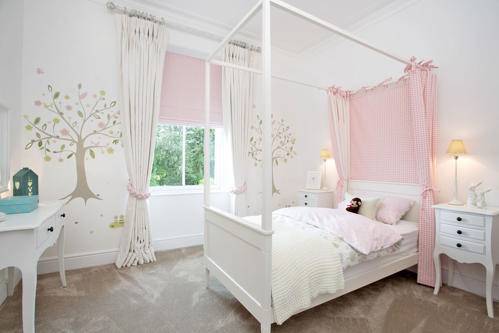 Pink And White Girl Bedroom