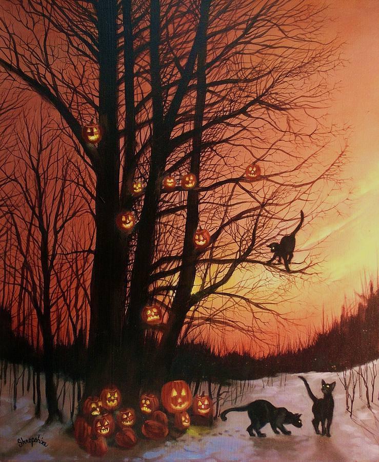 27 Halloween Paintings Art Ideas Pictures Images  Design Trends  Premium PSD Vector Downloads