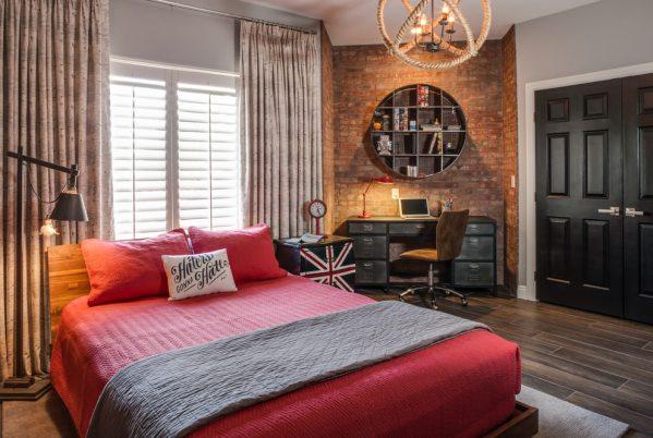 industrial grey bedroom 20+ Industrial Bedroom Designs, Decorating Ideas | Design