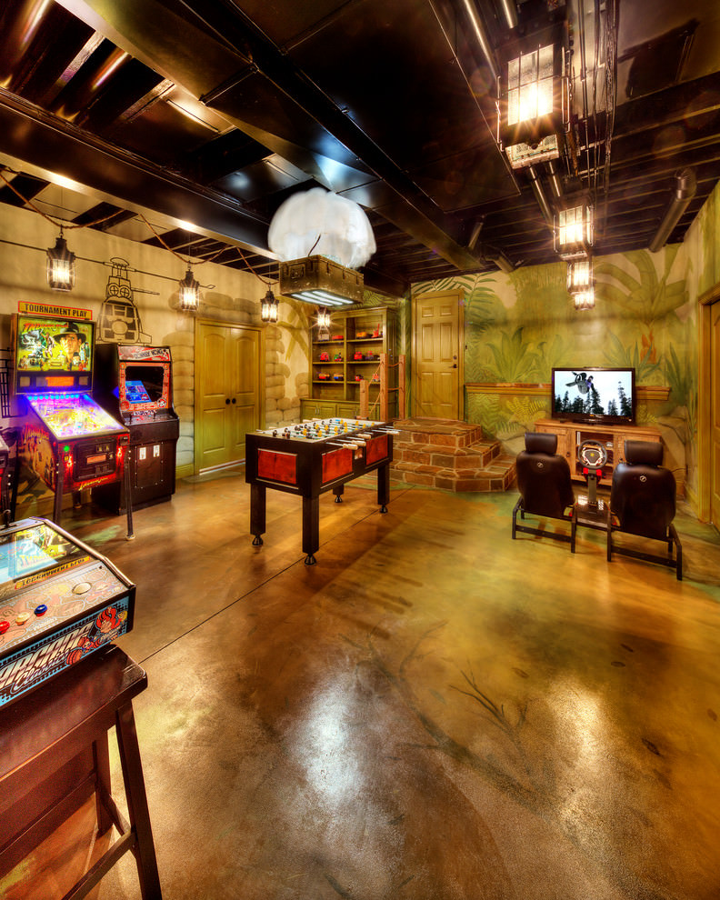 Signed by the artist, this print feature. 23+ Game Room Designs, Decorating Ideas | Design Trends ...