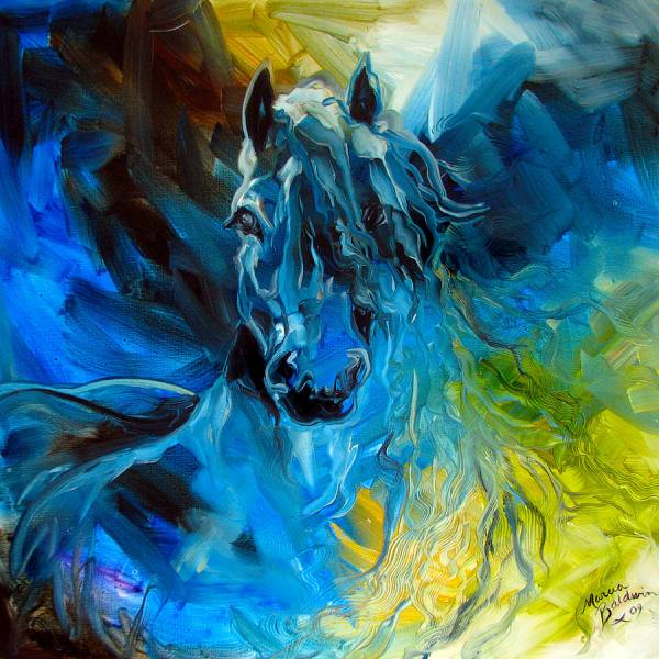 Blue Abstract Art Painting