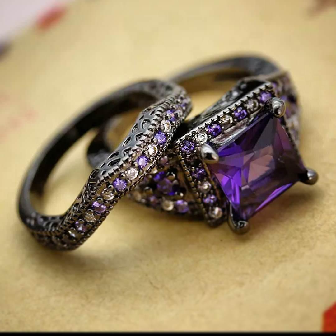 25 Purple Wedding Ring Designs Trends Models  Design