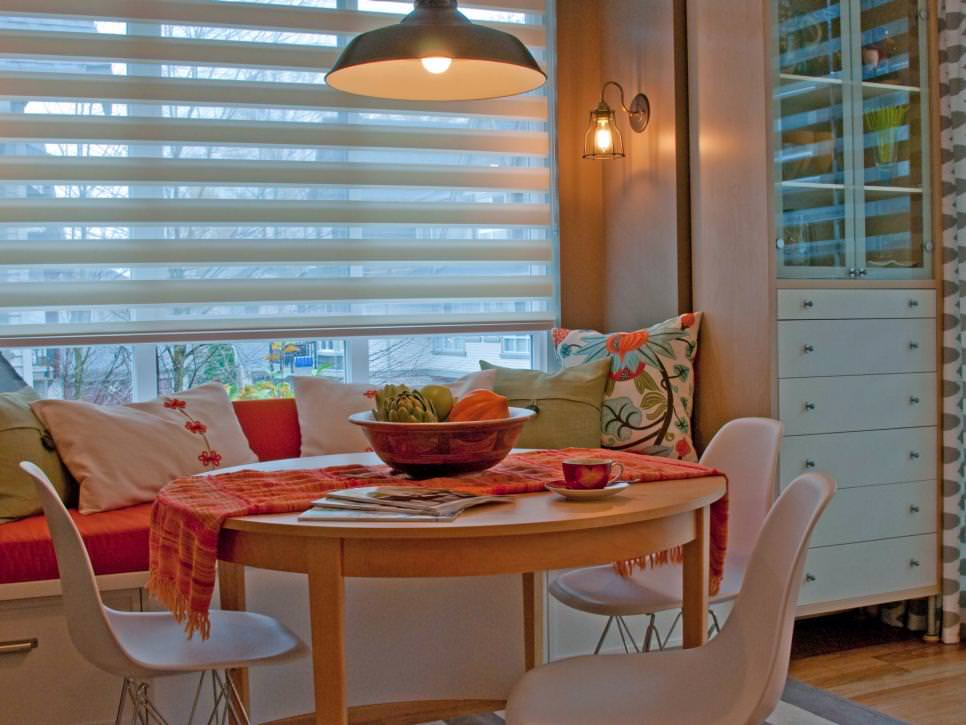 round wood kitchen table crosley alexandria island 23+ small dining designs, decorating ideas | design ...