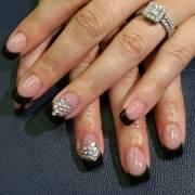 black tip nail art design