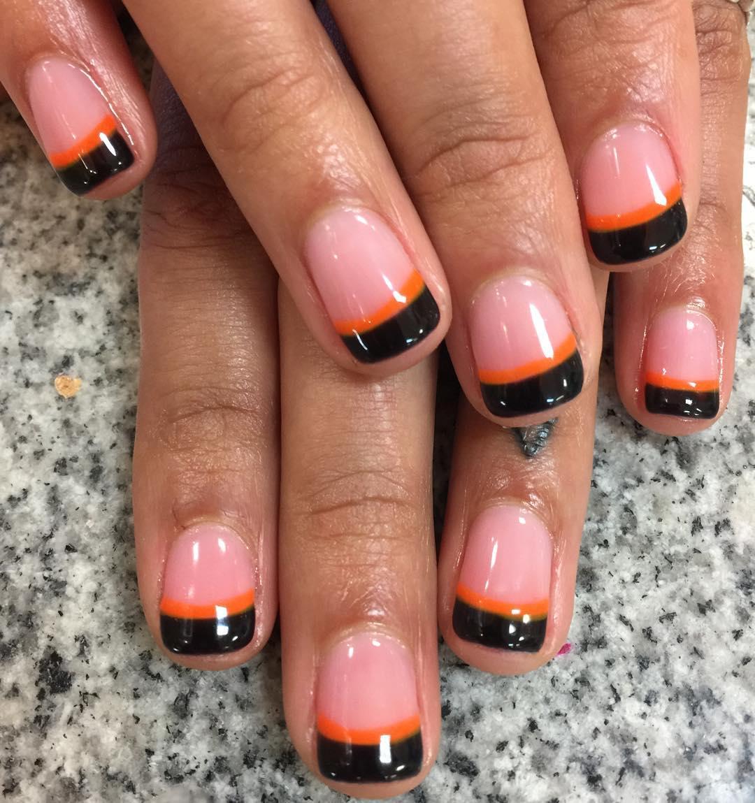 23+ Black Tip Nail Art Designs, Ideas