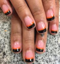23+ Black Tip Nail Art Designs, Ideas