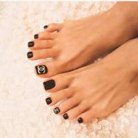 23+ Black Toe Nail Art Designs, Ideas