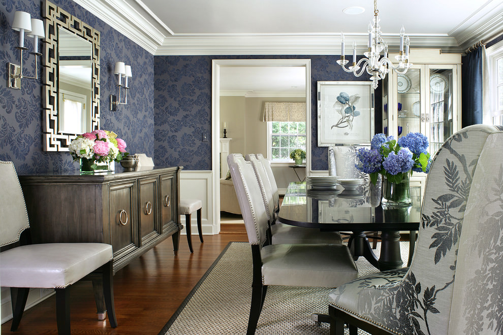 Fall Rug Wallpaper 25 Blue Dining Room Designs Decorating Ideas Design