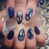 25+ Dark Blue Nail Art Designs, Ideas | Design Trends ...