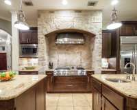 28+ Stone Walled Kitchen Designs, Decorating Ideas