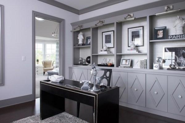 dark grey home office 21+ Gray Home Office Designs, Decorating Ideas | Design Trends - Premium PSD, Vector Downloads