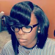 black weave haircut design