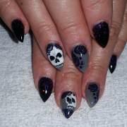 skull nail art design ideas