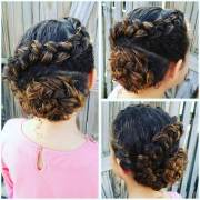 updos curly hair design ideas