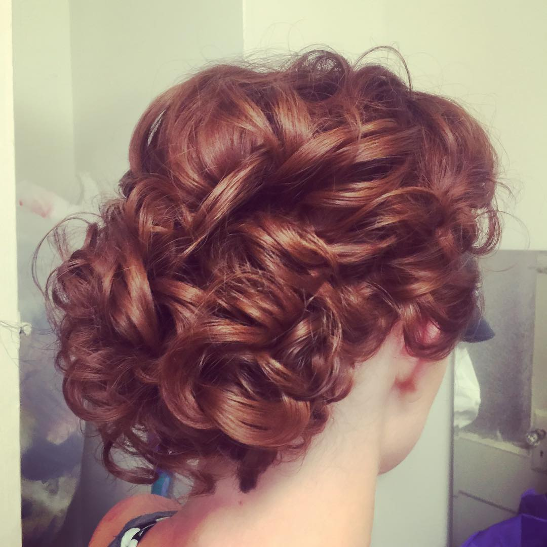 27 Updos For Curly Hair DesignsIdeas  Hairstyles