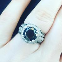 Beautiful Black Diamond Engagement Ring Designs   Design ...