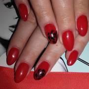 beautiful red nail art design