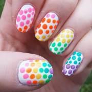 rainbow nail arts design
