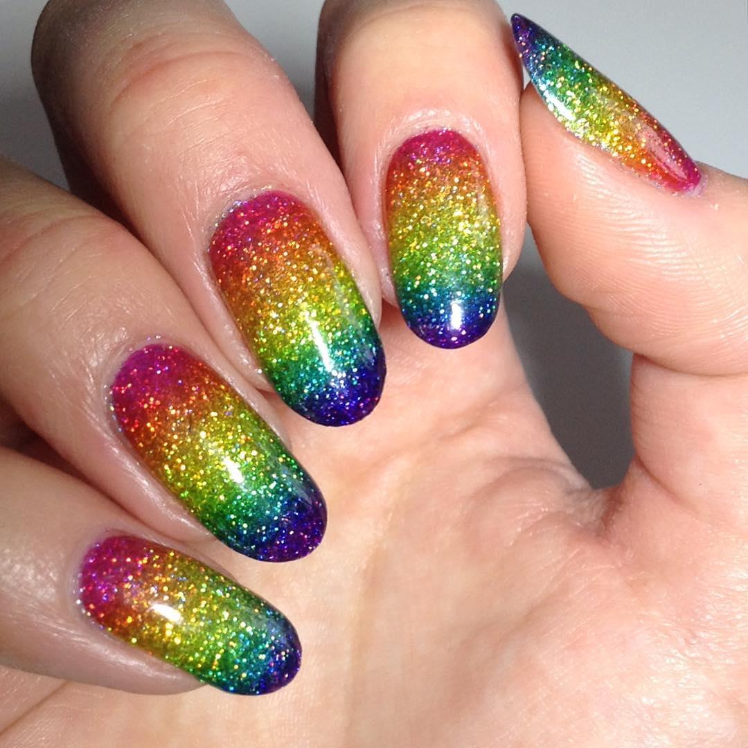 25+ Rainbow Nail Arts, Designs, Ideas