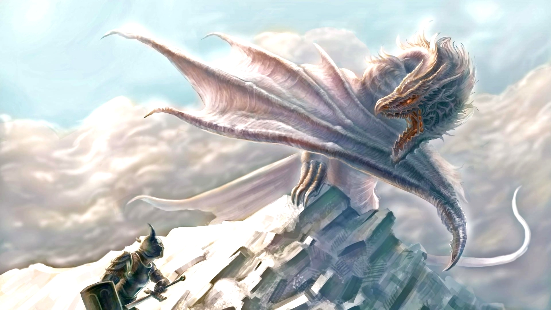 Silver Dragon Desktop Wallpapers