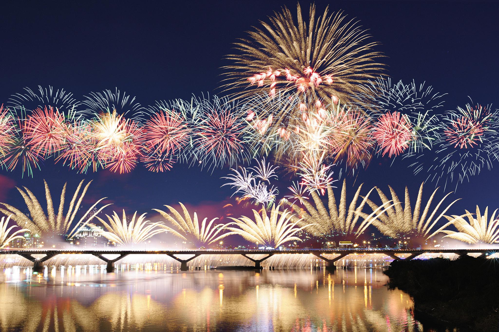 Amazing Fireworks Wallpapers Design Trends Premium PSD