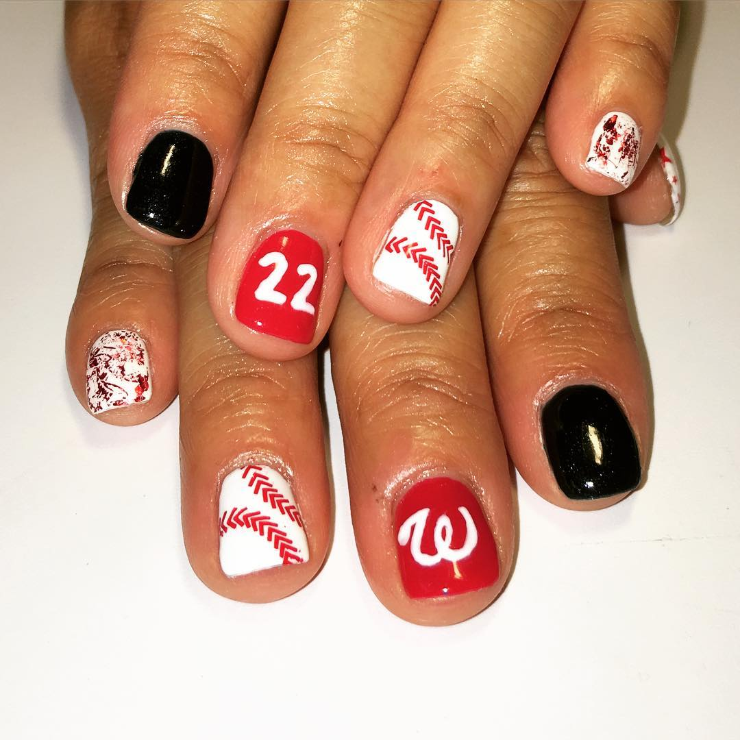 ... Nail Art Ideas baseball nails art : Baseball Themed Nail Art - Nail Art  Ideas ... - Nail Art Ideas » Baseball Nails Art - Pictures Of Nail Art Design Ideas