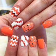awesome base ball nail design