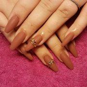 brown nail art design ideas