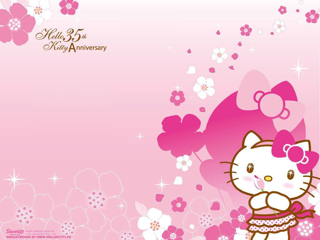 Hello Kitty Pink Cute Wallpaper Bergerak 30 Hello Kitty Backgrounds Wallpapers Images Design