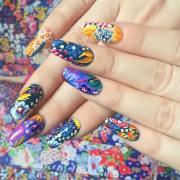 floral nail art design ideas