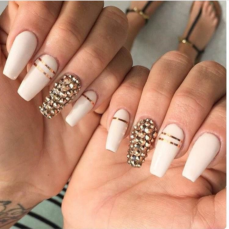 Sharp Nail French Tip Prom Design