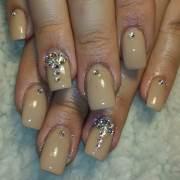 tan nail art design ideas