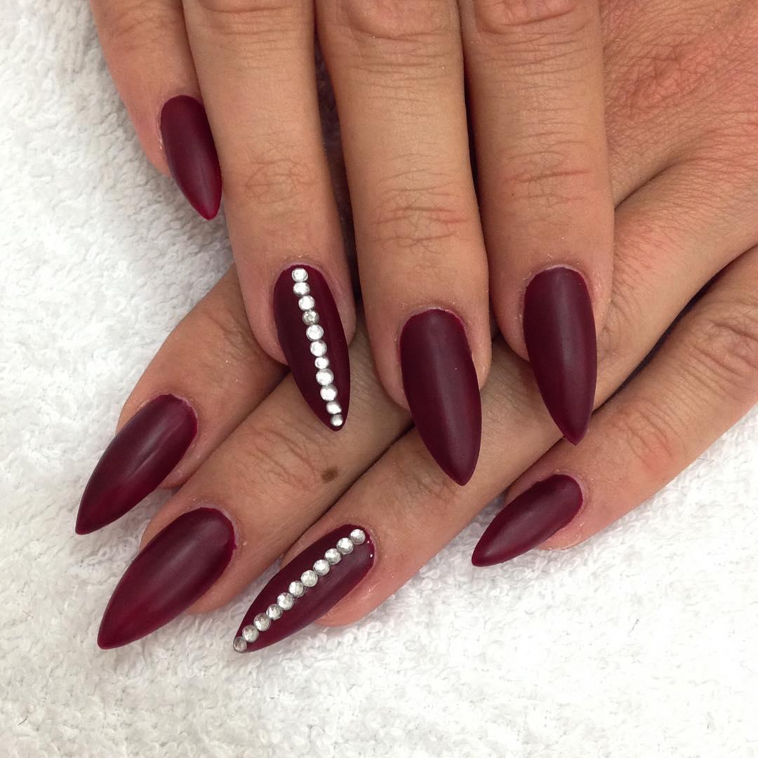 87+ Dark Red Matte Nails
