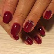 dark red nail art design