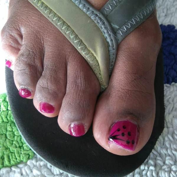 Toes Nail Art Design Ideas Trends - Premium Psd Vector