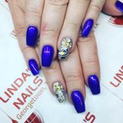 spring acrylic nail design