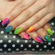 funny acrylic nail art design