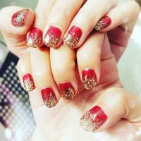 Red And Gold Nail Art | www.pixshark.com - Images ...