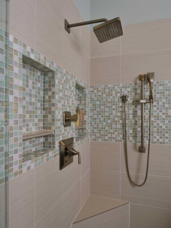 Mosaic Tile Bathroom Shower Designs