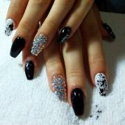 pretty bling acrylic nail art