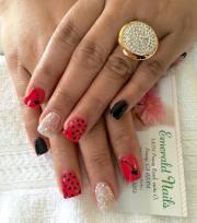 summer acrylic nail art design