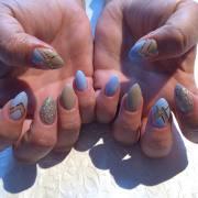 winter acrylic nail design