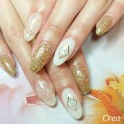winter acrylic nail design