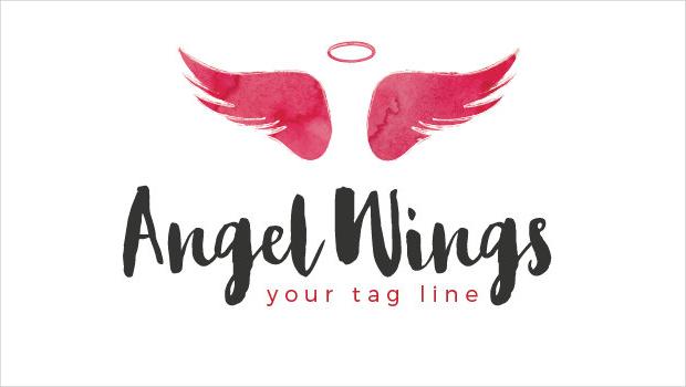 25 angel wings logo