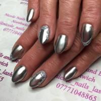 24+ Silver Acrylic Nail Art Designs, Ideas | Design Trends ...