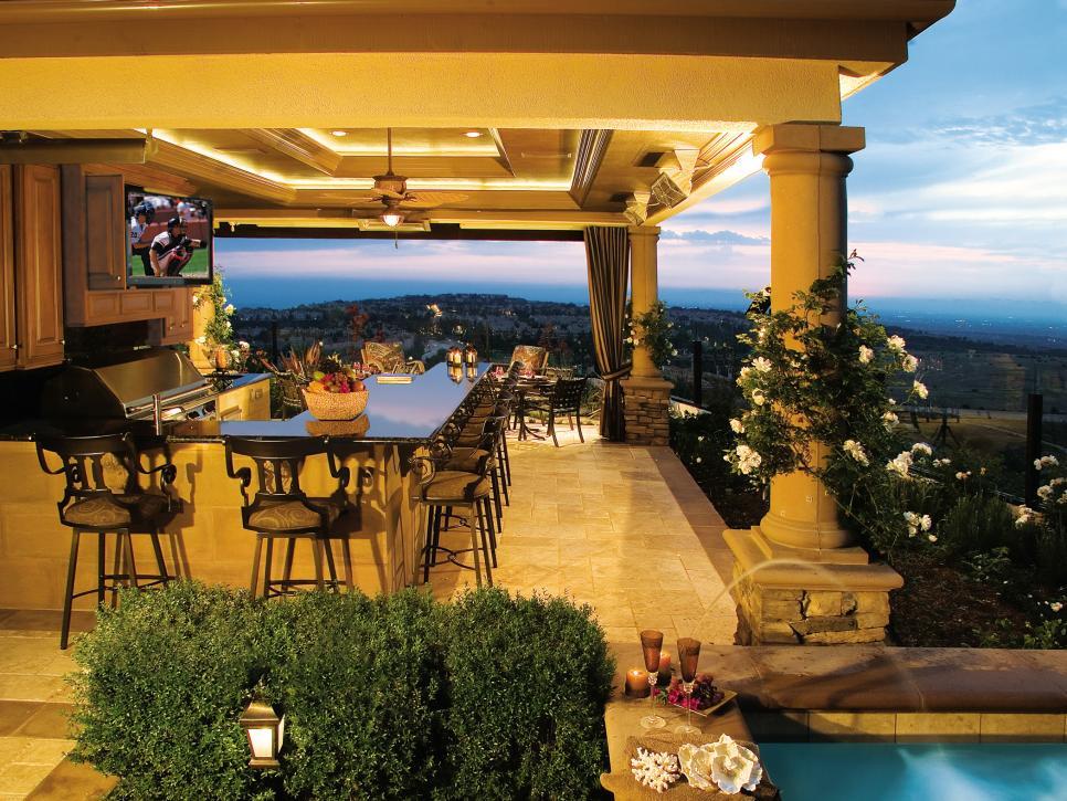 22+ Outdoor Kitchen Bar Designs, Decorating Ideas